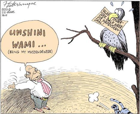 'Feeling Hawkish': Africartoons.com