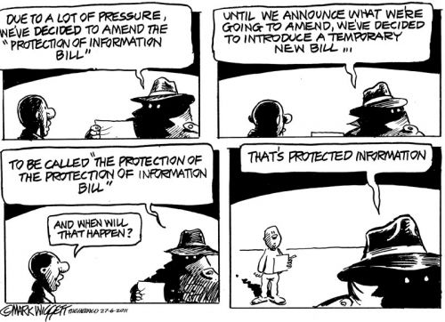 'Protecting the Secrecy Bill': Africartoons.com