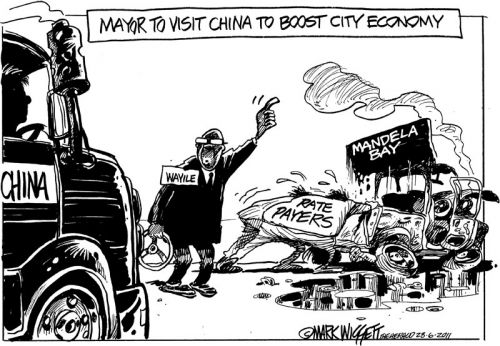 'Give us a boost, my China!': Africartoons.com