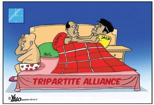 'Bedroom Battles of the Tripartite Alliance ': Africartoons.com