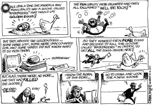 'A Mandela Bay Fairy Tale': Africartoons.com