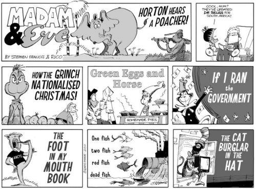 'Horton hears a... WHO?': Africartoons.com
