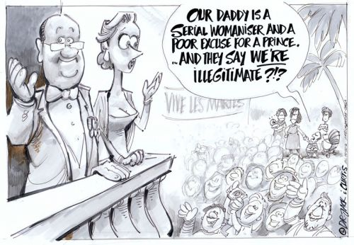 'The Illegitimate Prince': Africartoons.com