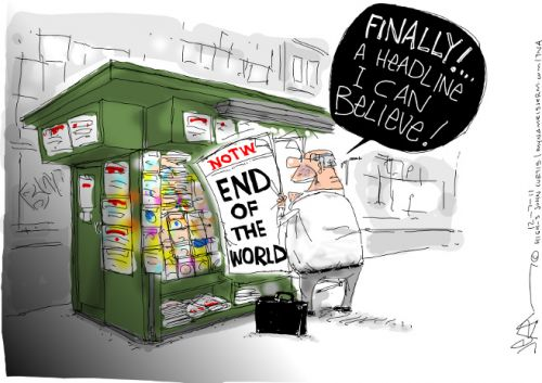 'The End of the World is Here': Africartoons.com