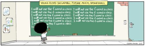 'Floyd's School Days': Africartoons.com