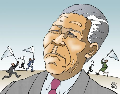 'Mandela Chasers': Africartoons.com