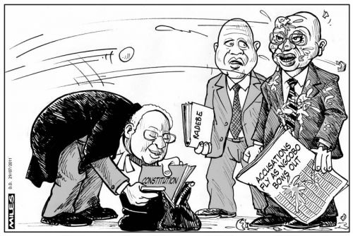 'Chief Justice Ngocobo Bows Out': Africartoons.com
