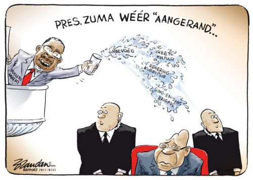 'Assault on the President': Africartoons.com