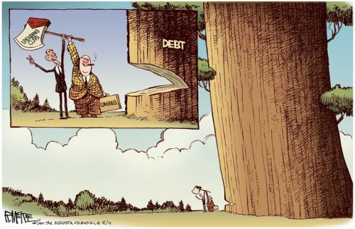 'Lumber! ...No wait, it's safe.': Africartoons.com