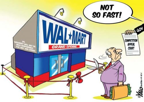 'Not So Fast, Walmart!': Africartoons.com