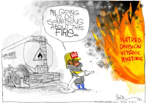 'Adding Fuel to the Fire': Africartoons.com