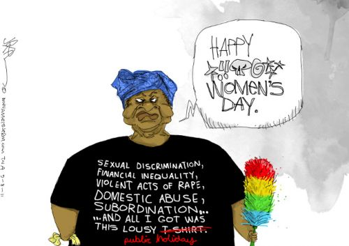 'Women's Day T-Shirt': Africartoons.com
