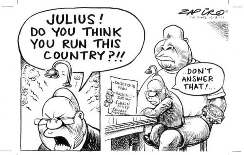 'Zuma in the Lap of Luxury': Africartoons.com