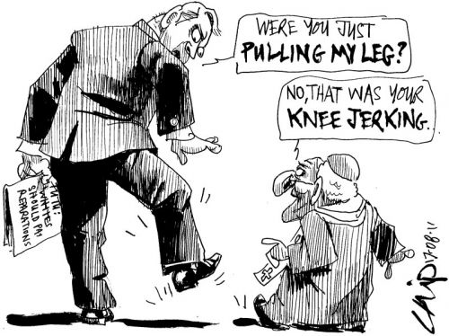 'Knee Jerk Reaction': Africartoons.com