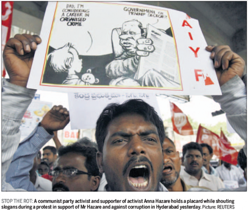 'Dr Jack Cartoon used in Indian Anticorruption Protest ': Africartoons.com