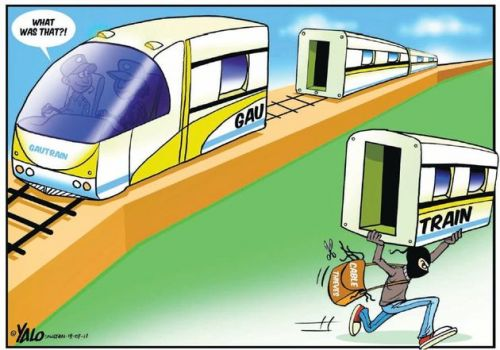 'The Great Gautrain Robbery': Africartoons.com