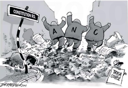 'ANC on a Trash Course': Africartoons.com