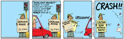 'Street Smart Advice': Africartoons.com