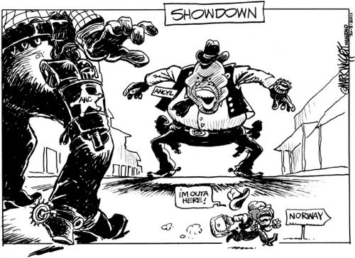 'High Noon at Luthuli House': Africartoons.com