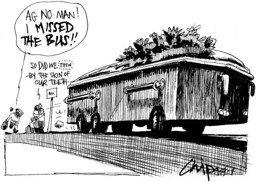 'Death by Bus': Africartoons.com