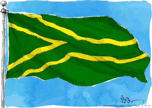 'Flying the Green and Gold': Africartoons.com