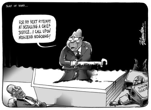 'Zuma&#039;s Choice of Chief Justice (Take Two)': Africartoons.com
