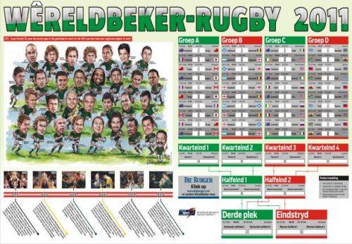 '2011 Springboks Team Portrait': Africartoons.com