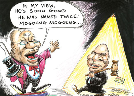 'Mogoeng So Good They Named Him Twice!': Africartoons.com