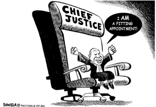 'Is Mogoeng Fit for the Sreat of Chief Justice?': Africartoons.com