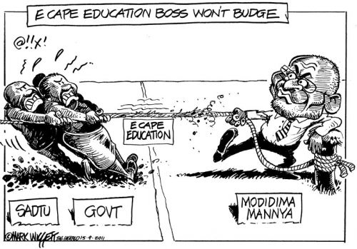 'Education Tug of War': Africartoons.com