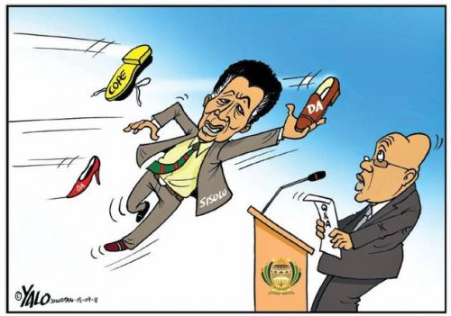 'Max Sisulu Defends the President': Africartoons.com