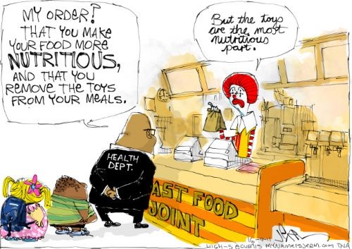 'Taking Aim at Fast Food': Africartoons.com