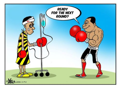 'Pirates v Chiefs; the next round.': Africartoons.com