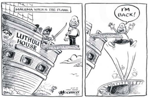 'Malema Bounces Back': Africartoons.com