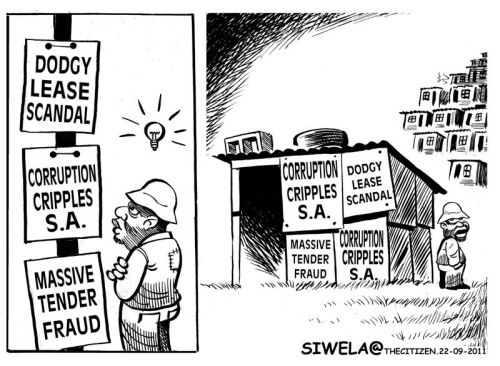 'Building on Corruption': Africartoons.com