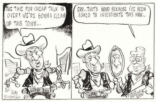 'Bad Sheriff ': Africartoons.com