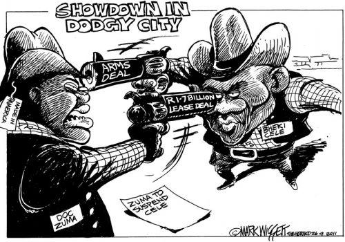 'Showdown: Zuma and Cele': Africartoons.com