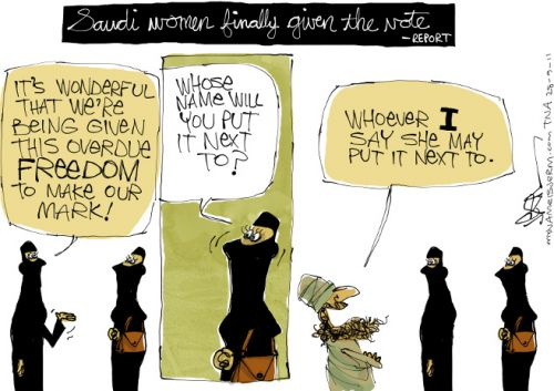 'Saudi Women's Rights': Africartoons.com