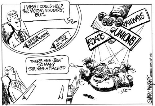 'Zuma and the Motor Industry': Africartoons.com
