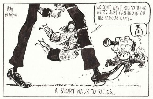 'On the Legs of Mandela': Africartoons.com