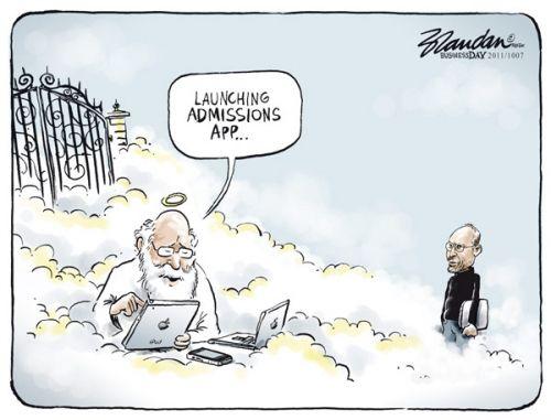 'RIP Steve Jobs': Africartoons.com