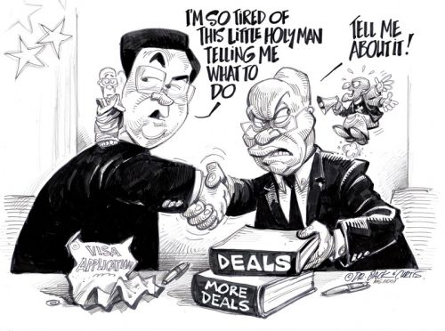 'Tutu Gives Zuma an Earful': Africartoons.com