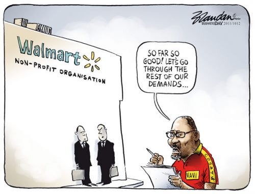 'Walmart Gives in to Vavi': Africartoons.com