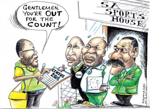 'Census of Sports Authorities ': Africartoons.com
