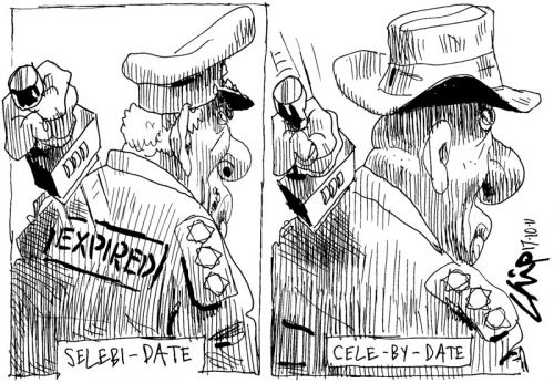 'Police Commissioners' Sell By Dates': Africartoons.com