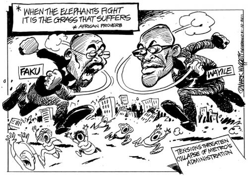 'When Elephants Fight...': Africartoons.com