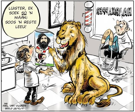 'Josh Strauss is the Mane Man': Africartoons.com