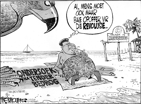 'Malema in Mauritius': Africartoons.com