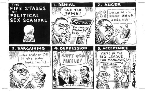 'The Five Stages of a Sex Scandal': Africartoons.com