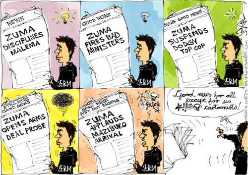 'Good News is Bad News': Africartoons.com
